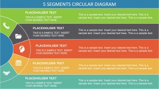 5 Stages Semi Circle PowerPoint Diagram