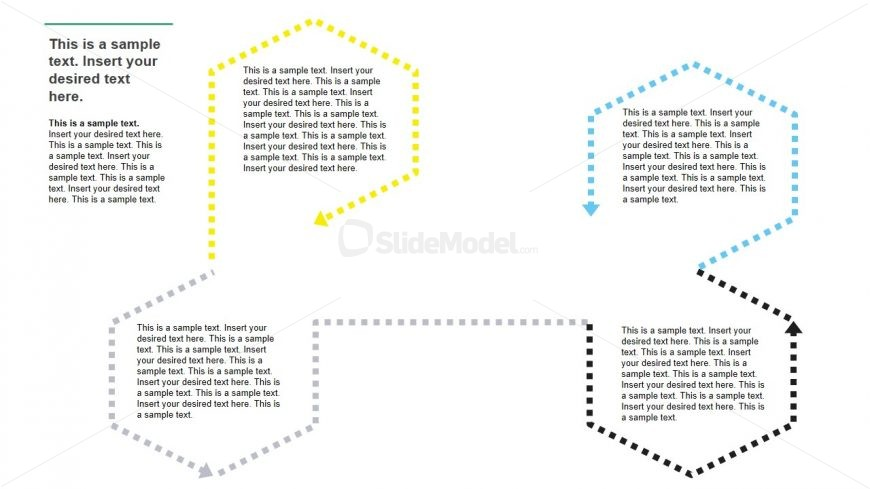 presentation template of dotted callout