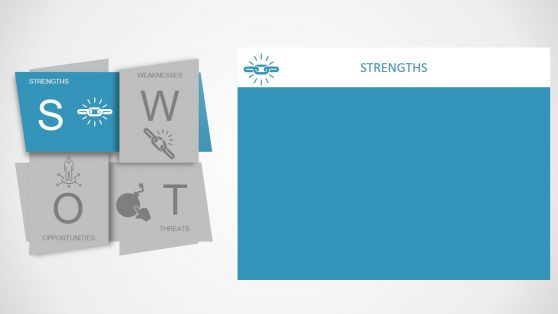 SWOT Diagram Template with Infogrpahics