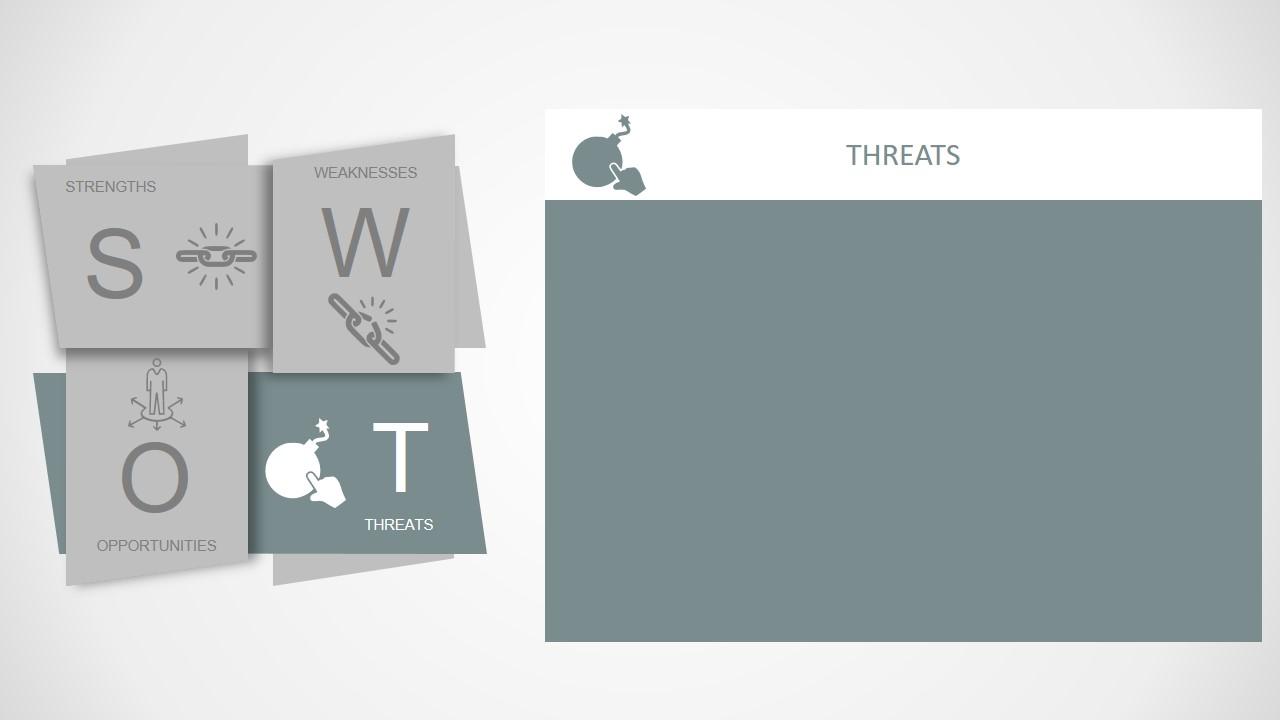 Template of SWOT Diagram Design