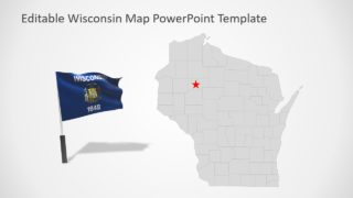 Slide of Editable Wisconsin Map