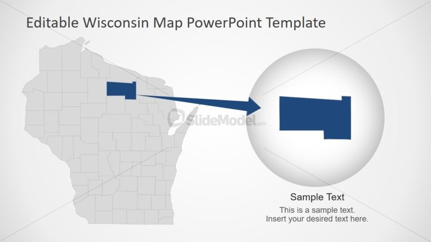 Template of Wisconsin State of USA