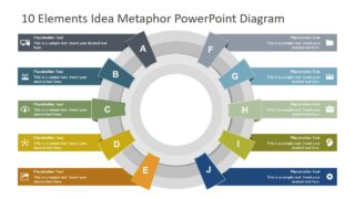 10 Elements Idea Metaphor PowerPoint Diagram