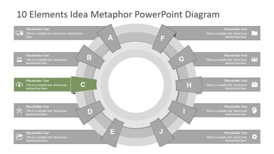 10 Element Circular Diagram PPT