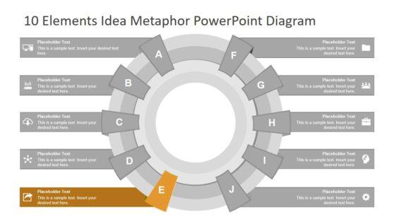 Metaphor PowerPoint Diagram 10 Steps
