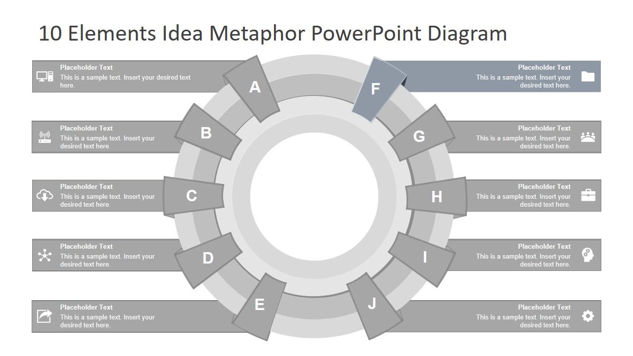 Editable PowerPoint 10 Steps Diagram