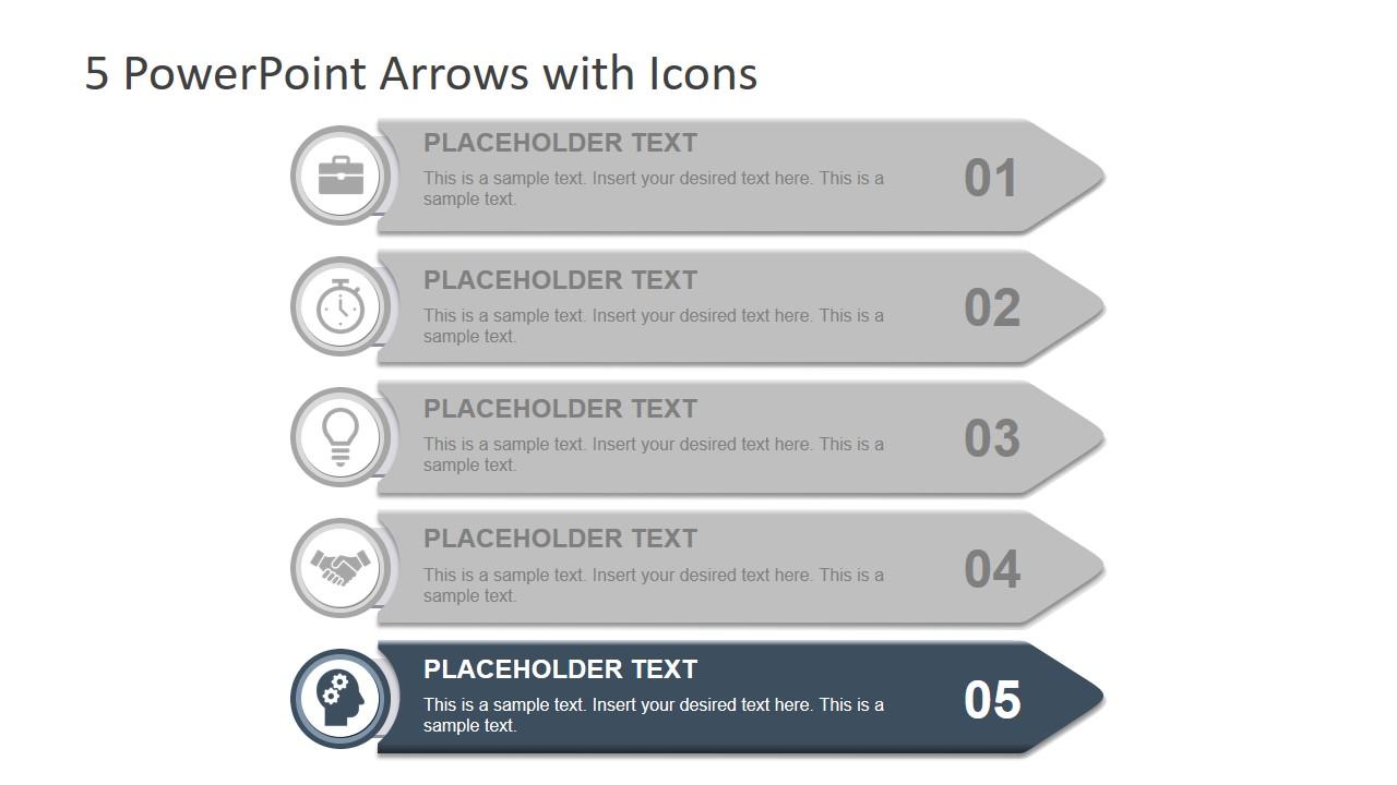 Arrow Bullet List Template