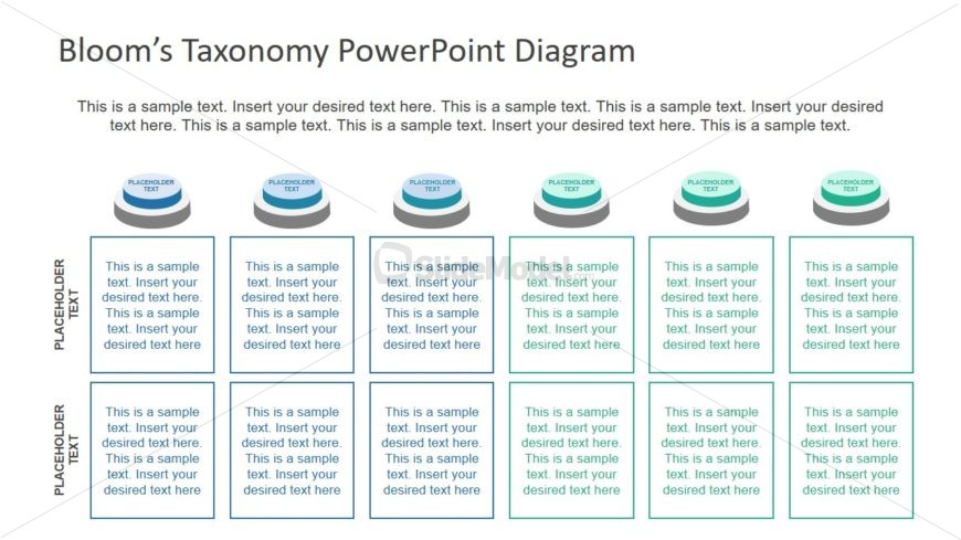 Button Shape 6 Segment PowerPoint