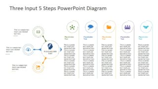 3 Input 5 Steps PowerPoint Diagram