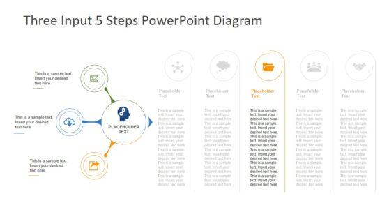 Data Processing 5 Steps Diagram Template
