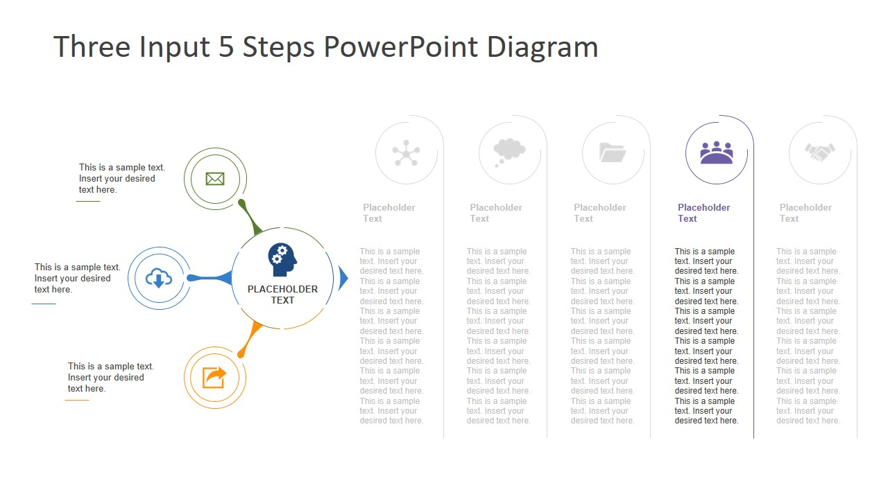 5 Outputs Diagram PowerPoint