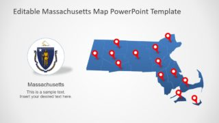 Massachusetts State PowerPoint Map