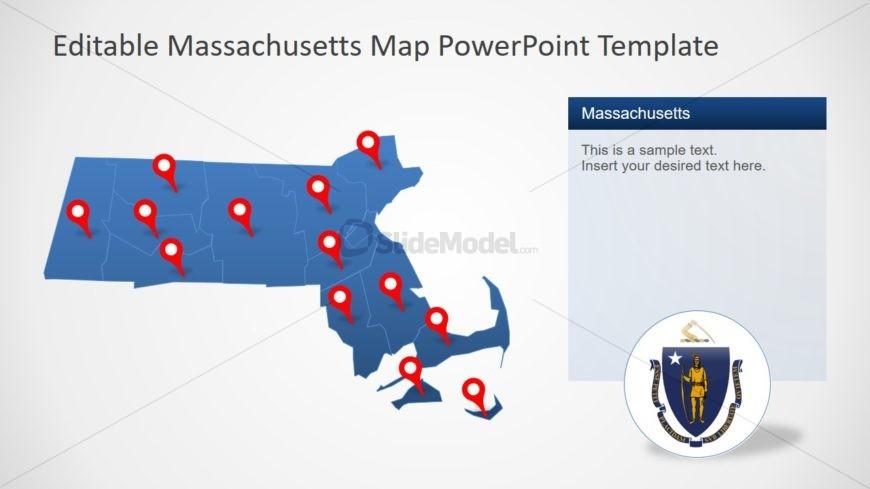 PPT Map of Massachusetts State