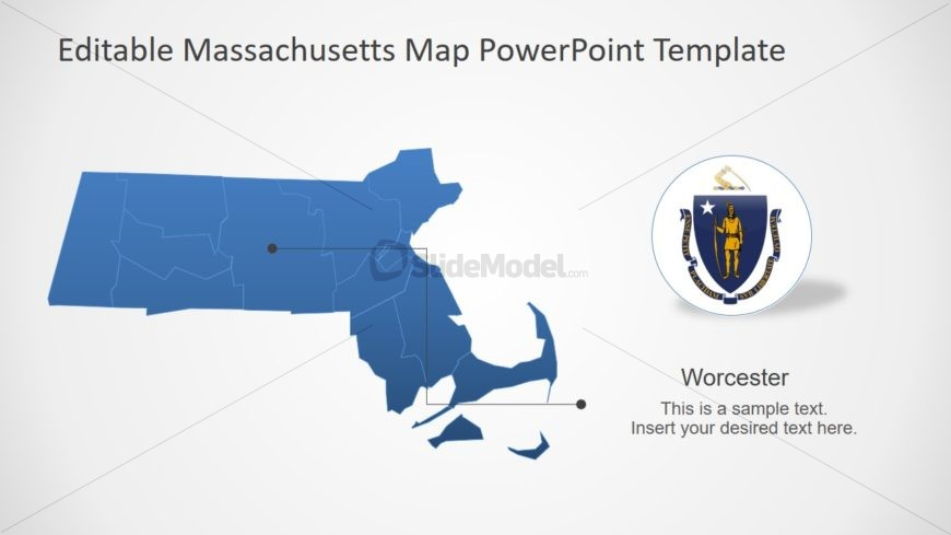 Outline PowerPoint Map of Massachusetts
