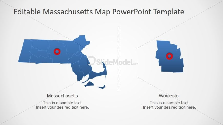 Silhouette Map of Massachusetts