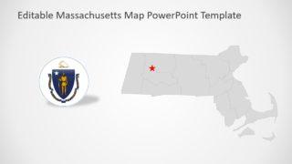 USA State Map of Massachusetts