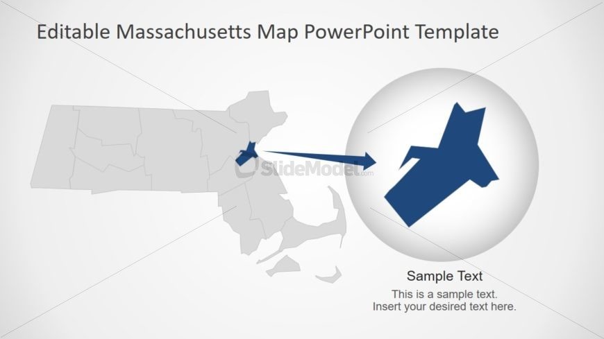 PPT Map of Massachusetts