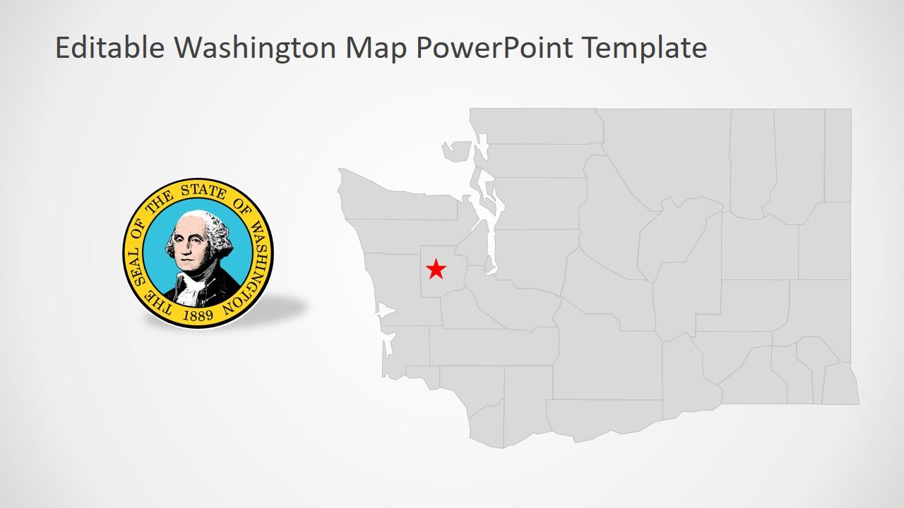 PowerPoint Map of Washington Template