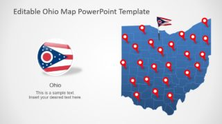Ohio State PowerPoint Map