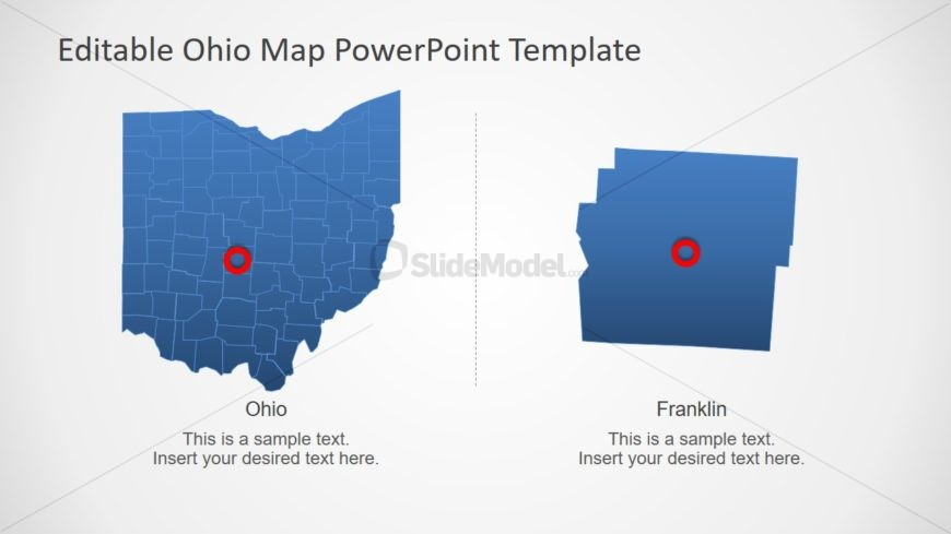 Silhouette PowerPoint Outline Map