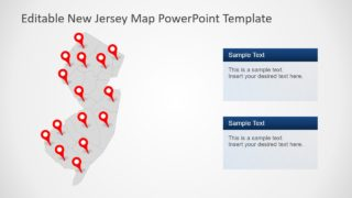 Editable Gray Map NJ