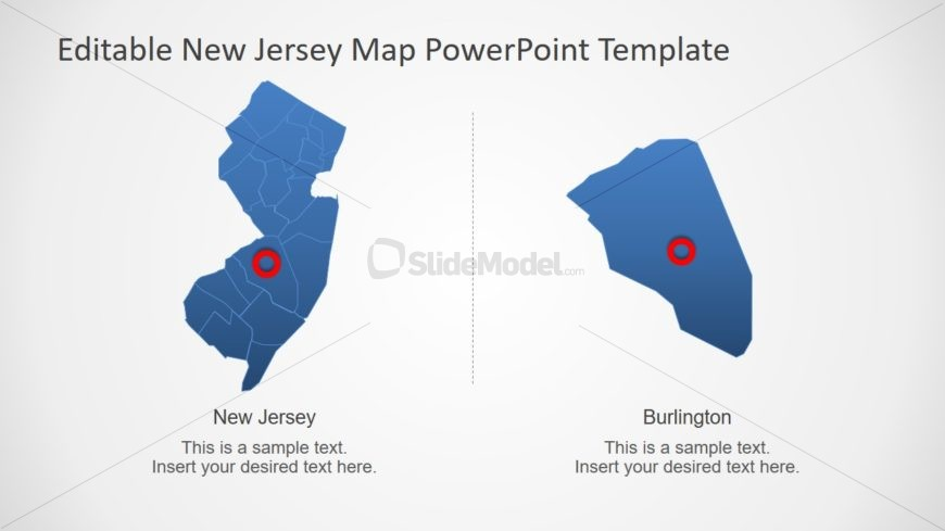 Blue Silhouette Map Template