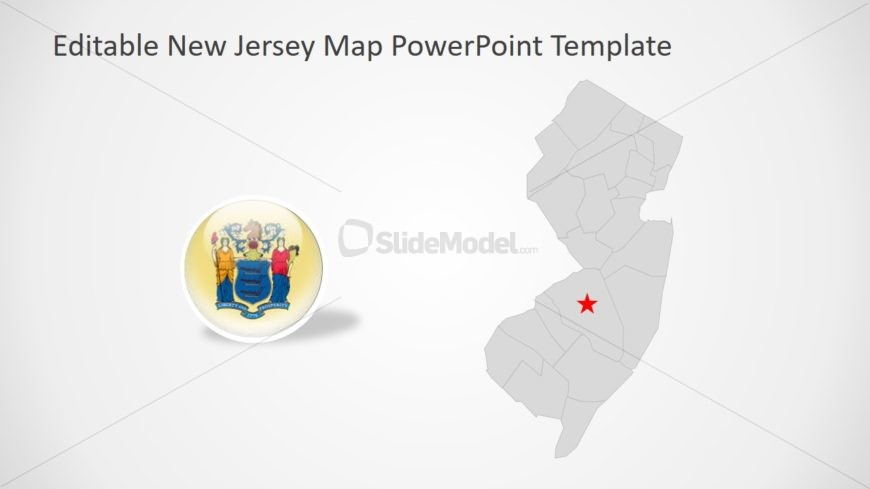 Let Me See A Map Of The United States.New Jersey Template Of Silhouette Map Slidemodel
