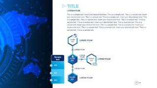 PowerPoint Technology Diagram Hexagon