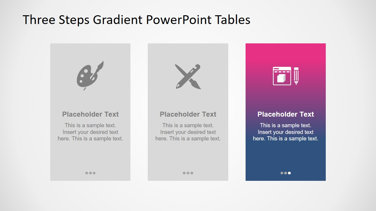 Graphics of Gradient PowerPoint Table