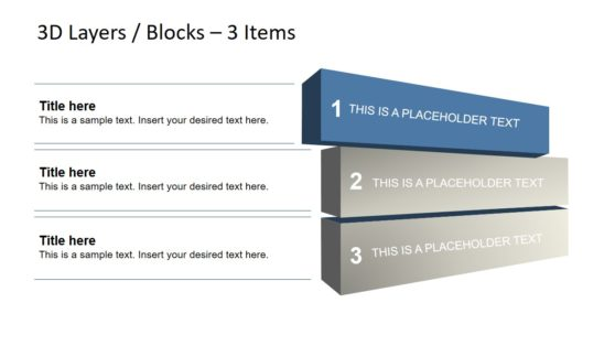 3D blocks for Layered Diagrams PPT