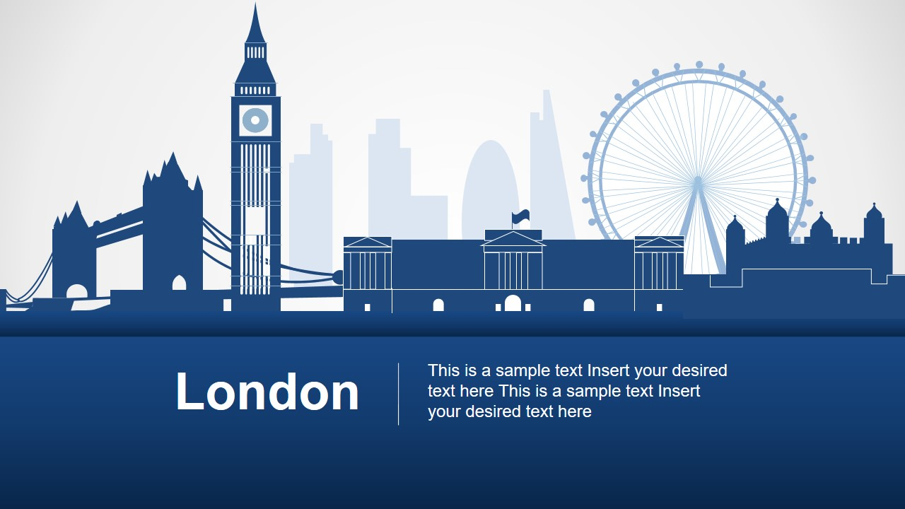 Silhouette Map Template of London