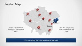 Slide of London Outline Map
