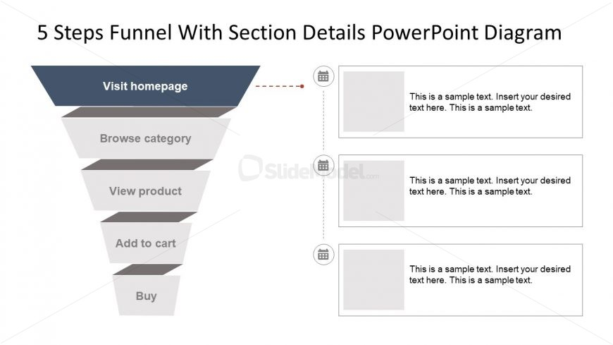 Funnel With Section Details PPT