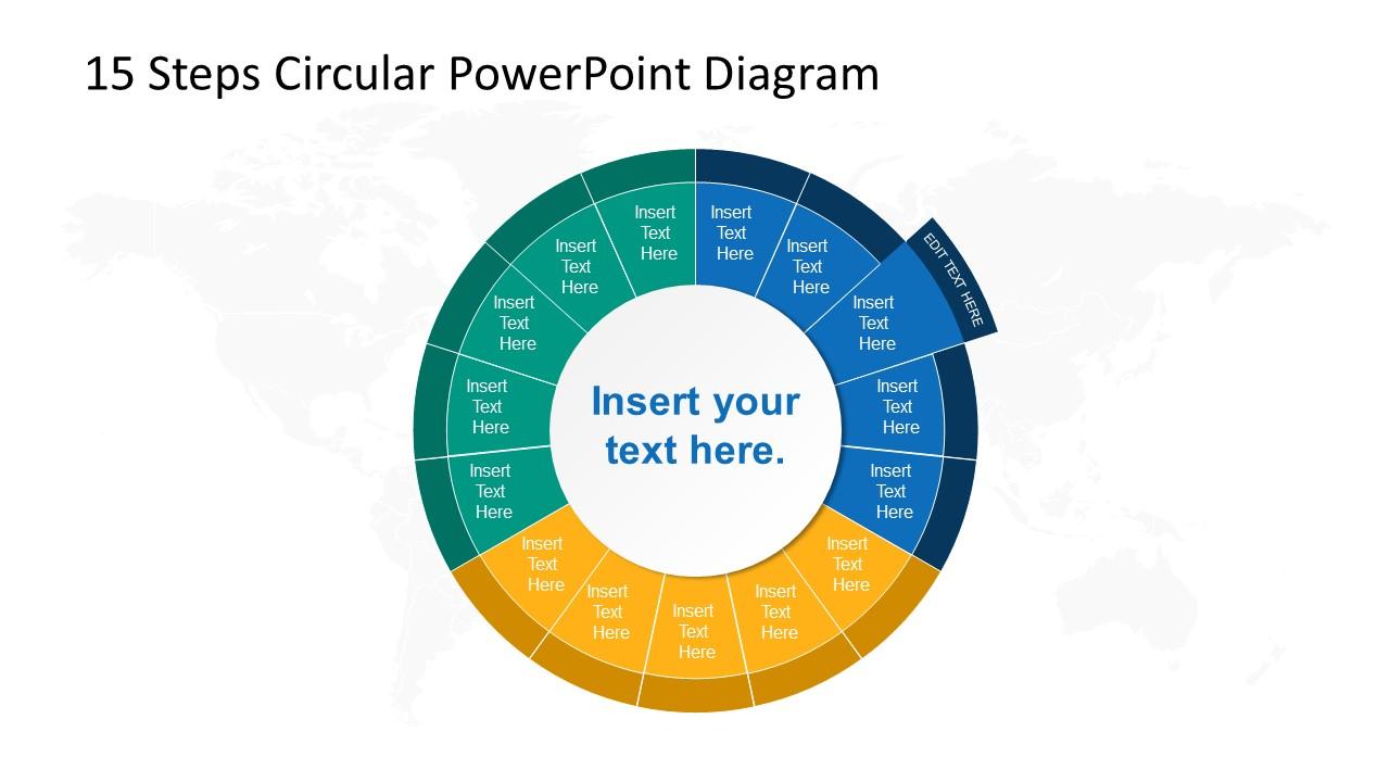 Step 3 Circular PowerPoint Diagram