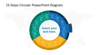 Step 4 Circular PowerPoint Diagram