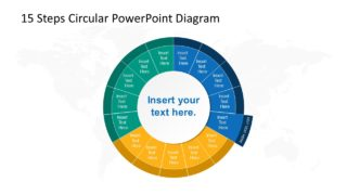 Step 5 Circular PowerPoint Diagram