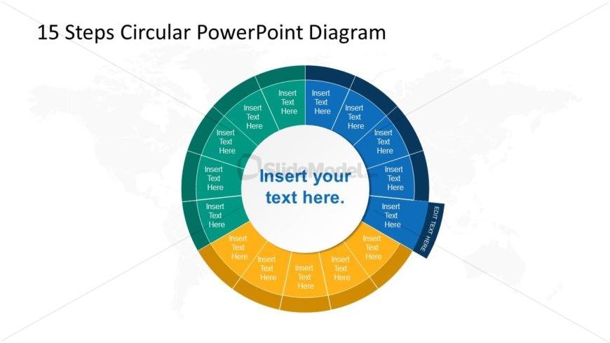 Step 5 Circular PowerPoint Diagram