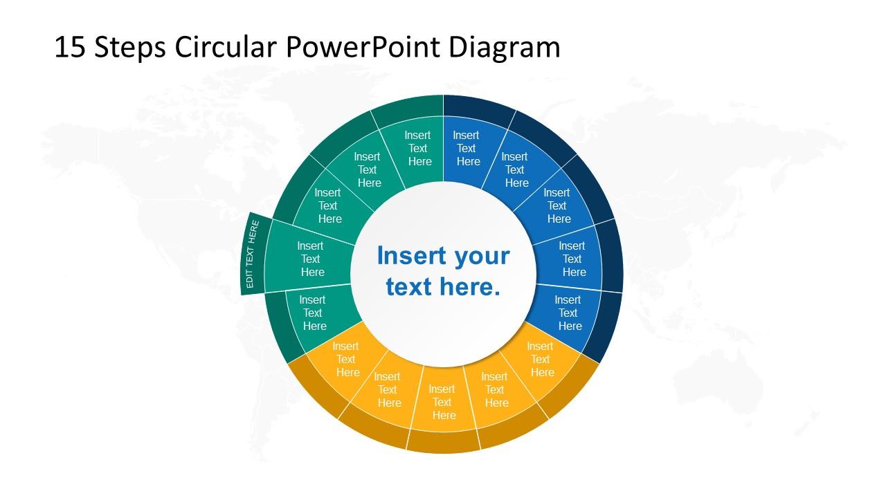 Step 12 Circular PowerPoint Diagram