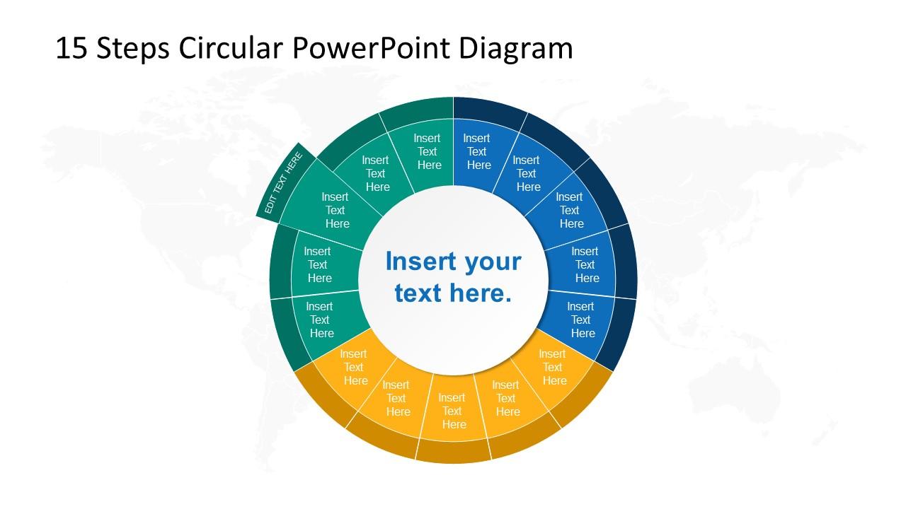 Step 13 Circular PowerPoint Diagram