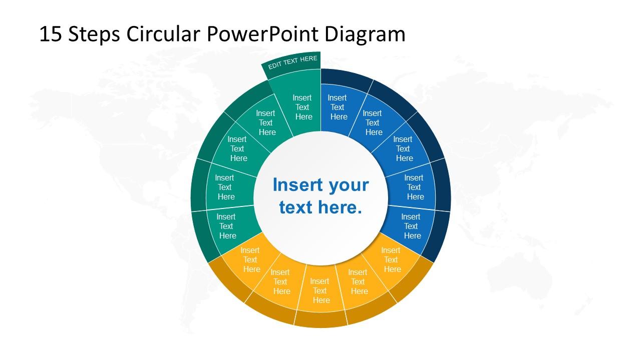 Step 15 Circular PowerPoint Diagram