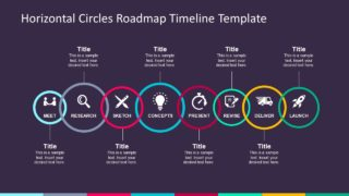 Horizontal Circles Roadmap Timeline Template