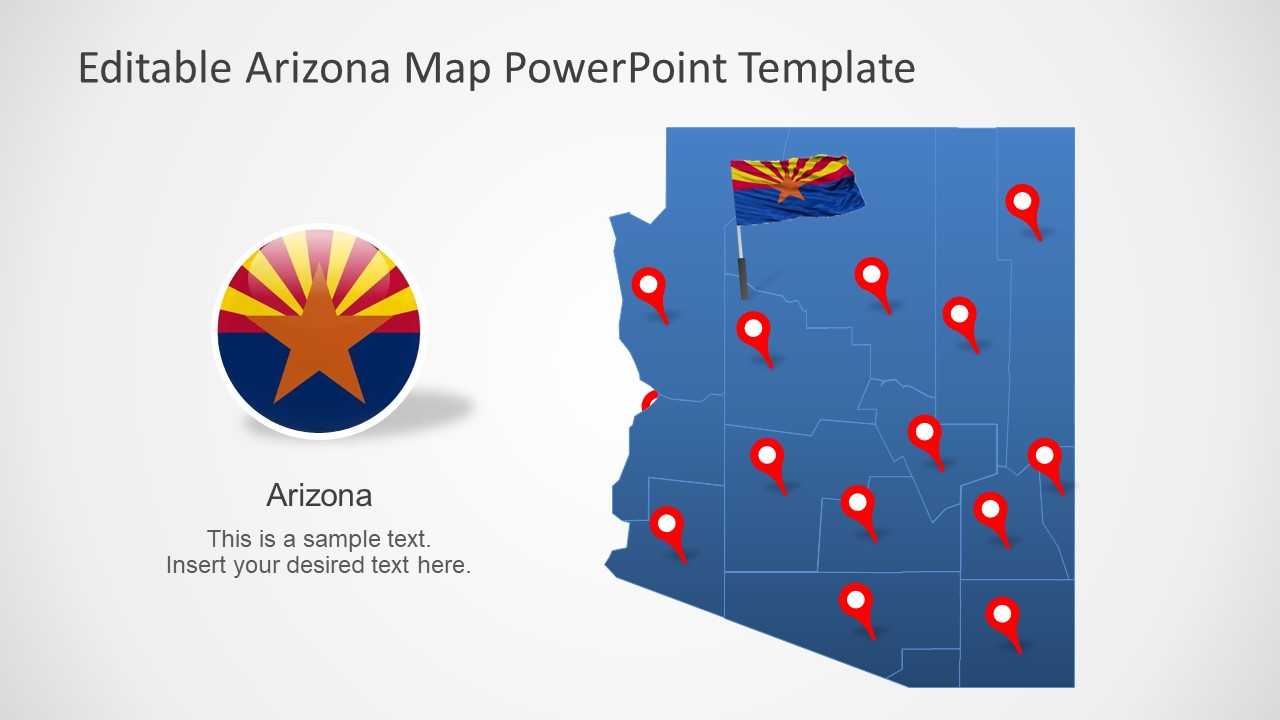Map Template of Arizona