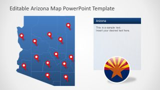 PowerPoint Location Pins on Map