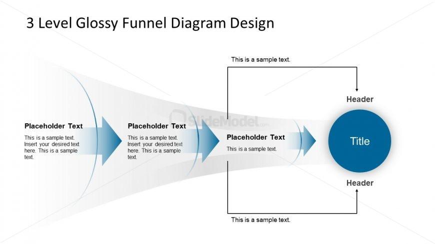 Horizontal Funnel Diagram Template