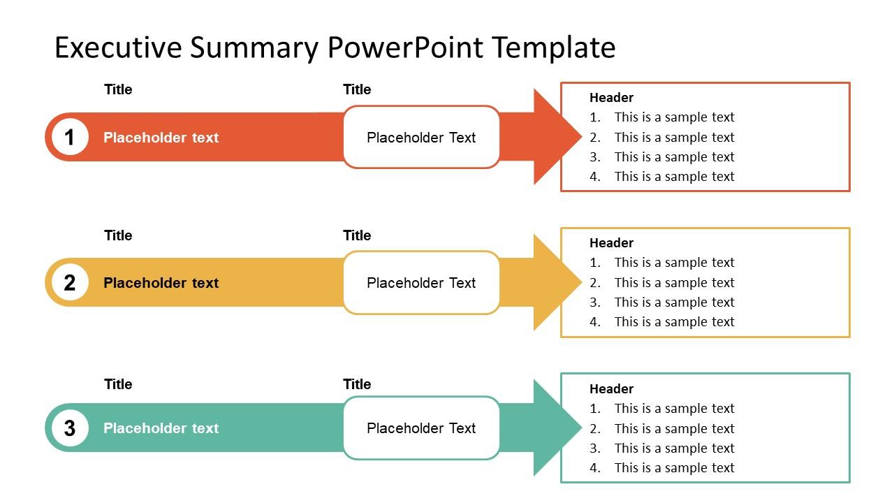 3 Arrows Executive Summary Template