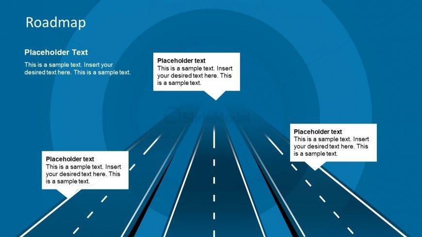 3 Roads PowerPoint Template