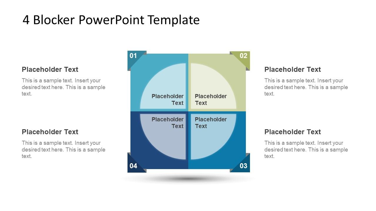 4 Blocker Style PowerPoint Slide 1
