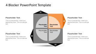 4 Blocker Style PowerPoint Slide 10