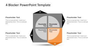 4 Blocker Style PowerPoint Slide 11