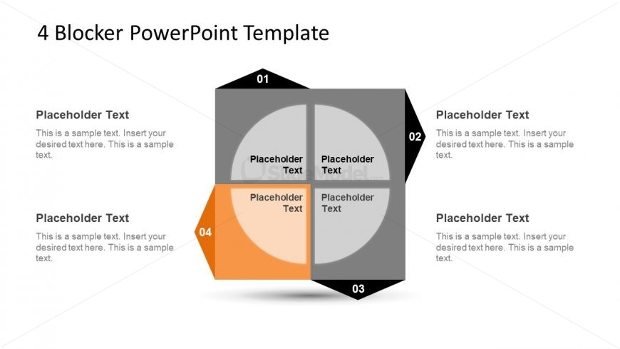 4 Blocker Style PowerPoint Slide 12